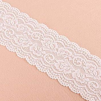 Schwarz Yulakes 5 Yards Wei/ß Schwarz Elastizit/ät Spitzenborte Spitzenband Spitzenbord/üre Zierband Spitze Blume Borte f/ür Handwerk Dessous Hochzeitskleid Hochzeit Dekor 10cm Breite