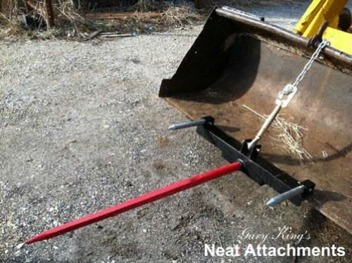 Loader Bucket Hay Bale Spear Attachment 1x49 Prong - KHL