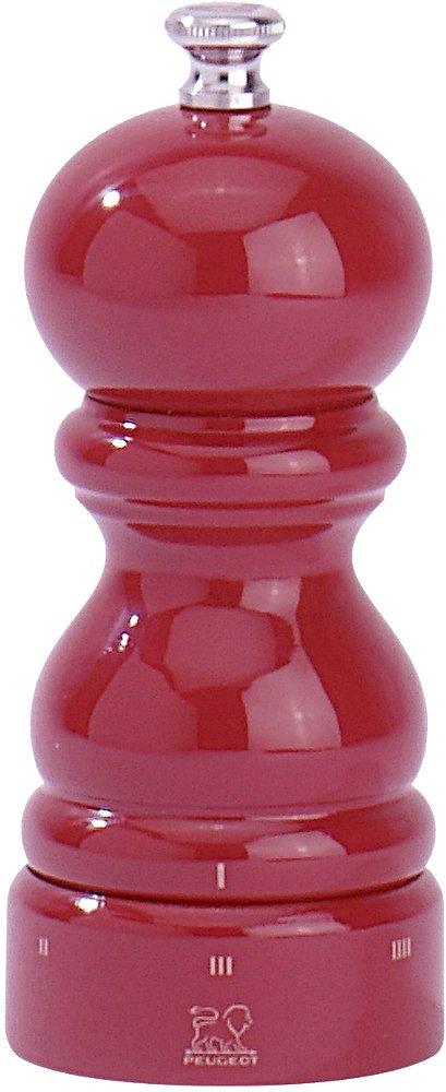 Peugeot 23577 Paris Salzm/ühle Holz rot lackiert 5,5 x 5,5 x 12 cm