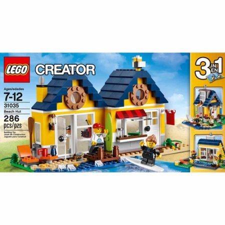 LEGO Creator Beach Hut, 13.94L x 7.52W x 2.32H - Hut H