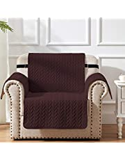 SunStyle Home 100% Waterproof Furniture Protector Couch Armchair Cover with Adjustable Elastic Strap and Non-Slip Backing