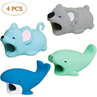 Apartner Dreams Cable Bite for iPhone, 4PCS Animal Bites for Apple Phones, Cute Cable Cord Protector Line Chewers Cell…