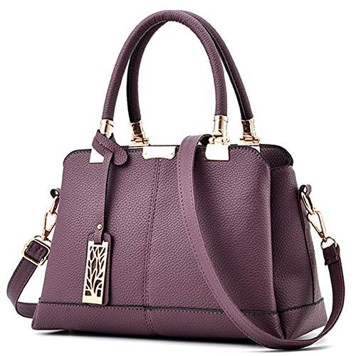 Calidad Mujer Clásico 2018 Deep Hombro Portátil Casual Tote Cuero De Crossbody Nuevas Pu Purple Bolsos Wererfg Mujeres Alta xfvYdOwYq