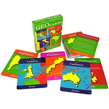 GeoCards World - Educational Geography Card Game - Learn As You Play! Excellent For Ages 4 and Up!