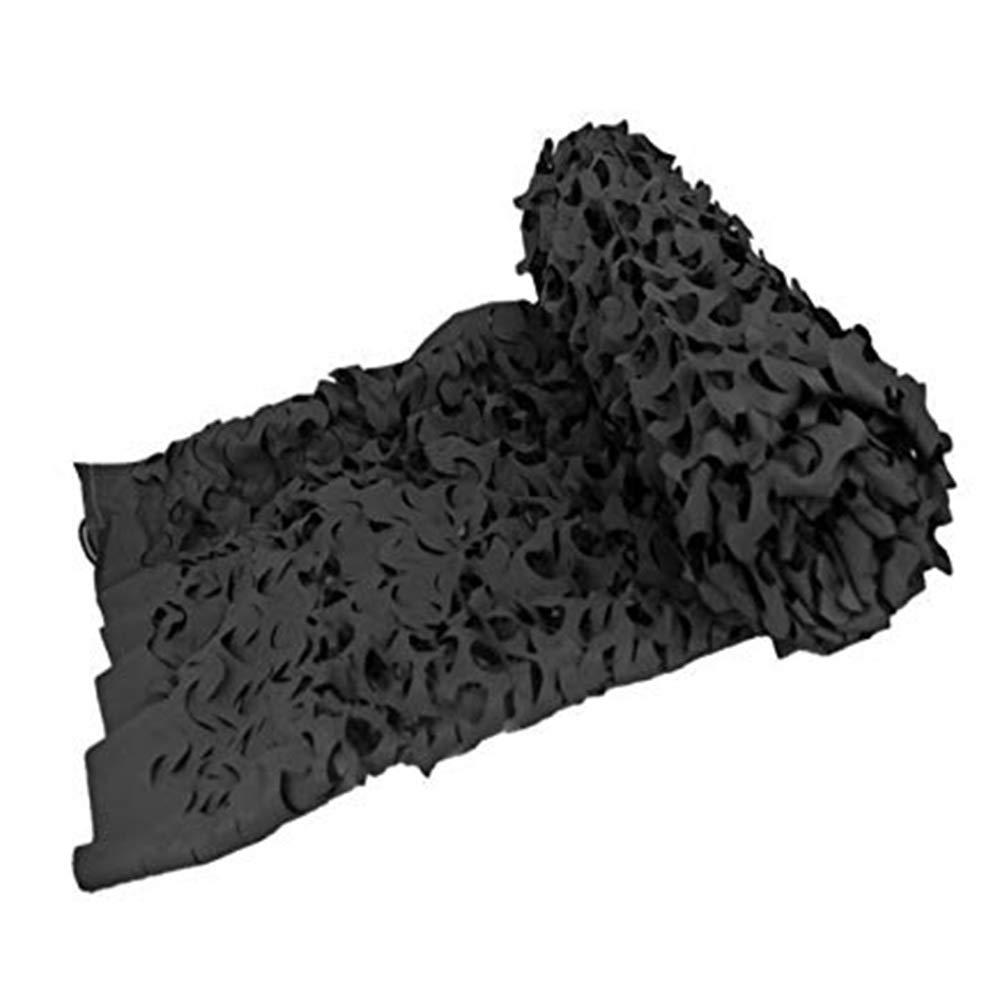XIAOYAN Rete Camouflage 210D Oxford Tessuto Camo Rete Grande per Camping Decorazione del Partito di nascondino, Nero Bianco (colore   Nero, Dimensioni   4x5m)