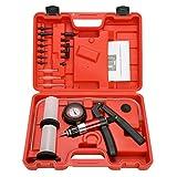 8milelake 21PC Hand Held Vacuum Pressure Pump Tester Kit Brake Fluid Bleeder Bleeding Kit