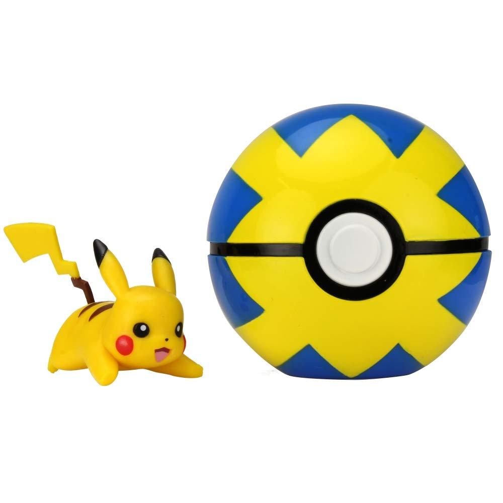 Multicolore Giochi Preziosi Pokemon Alolan Vulpix e Luxury Ball Clip N Go con Personaggio PKE10300
