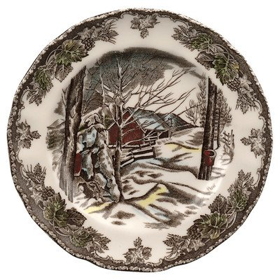 Friendly Dinner Village Plate - Friendly Village Bread and Butter Plate [Set of 4]