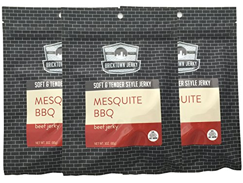 Mesquite BBQ Soft and Tender Style Best Beef Jerky - 3 PACK - Try Our Best Tasting Soft Beef Jerky - 9 total ()