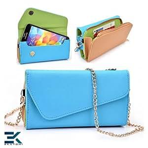 Nokia Lumia 1020 Case | PU Leather Wallet Purse Universal Phone Wristlet - BLUE, BROWN & GREEN. Bonus Ekatomi Screen Cleaner*