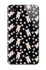 LJF phone case Case Fun Apple iPhone 4 / 4S Case - Vogue Version - 3D Full Wrap - Angel Bears