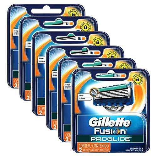 Carga Gillette Aparelho de Barbear Fusion Proglide c/ 12