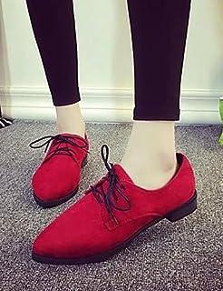 NJX/ hug Chaussures Femme-Extérieure / Décontracté-Noir / Rouge / Gris-Talon Plat-Confort / Bout Pointu-Baskets à la Mode-Similicuir black-us5.5 / eu36 / uk3.5 / cn35 MKJMK
