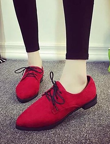 Casual 5 Njx Zapatos Mujer Puntiagudos Rojo us6 comfort Hug 5 Moda Plano A tacón Eu37 5 us6 Eu36 7 La Uk4 negro Gray Uk4 exterior semicuero Gris Cn37 De sneakers Red Cn36 0AAqOxrn