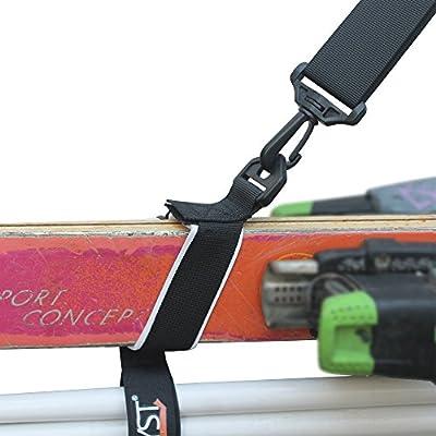 YYST Ski strap Ski Carrier Ski Shoulder Strap – Hold Ski and Ski Poles - Quick - Release Style