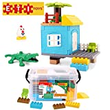 ETI Toys, 41 Piece Bublu Stilt House Building Blocks. Build Stilt House in Wilderness with Porch. 100 Percent Non-Toxic, Fun, Creative Skills Development. Gift, Toy for 3, 4, 5 Year Old Boys and Girls