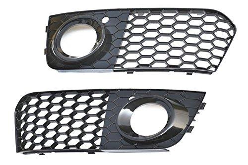 Rejilla de ventilaci/ón con orificios con forma de panal para parachoques faros antiniebla color negro