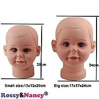 Rossy&Nancy Children Mannequin Manikin Head for Wig Hats Display Show Stand Model Mannequins