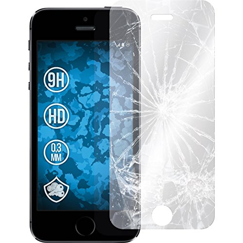2 x apple iphone 5 5s se glas folie klar phonenatic. Black Bedroom Furniture Sets. Home Design Ideas