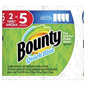 Ratings and reviews for Bounty Select-A-Size Paper Towels, White, 2 Count = 5 Family Rolls