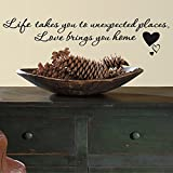 RoomMates RMK2593SS Love Bring You Home Peel and Stick Single Sheet