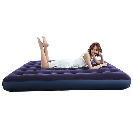 Ir bed Saco de Dormir Colchón de Aire Colchón Inflable Azul Que Espesa el Amortiguador de