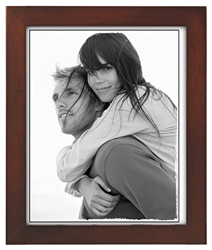 Malden 8x10 Picture Frame - Wide Real Wood Molding, Real Glass - Dark (Dark Wood Picture Frame)