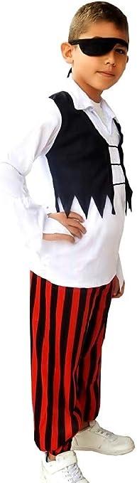 Disfraz de pirata pirata niño disfrazado de carnaval talla s 3/4 años cosplay: Amazon.es: Bebé