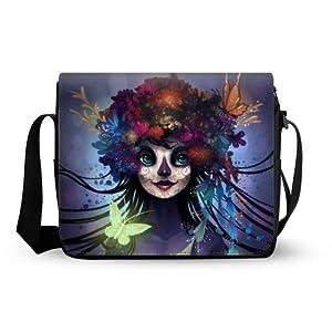 Beautiful Sugar Skull Oxford Fabric Messenger Bag,Shoulder Bag