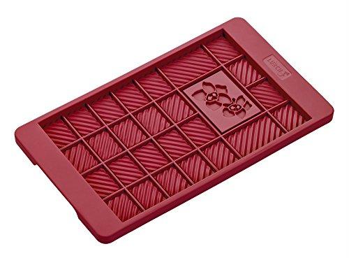 Lurch Germany FlexiForm 4.7 x 8 Inch Silicone Chocolate Bar Mold, Ruby Red
