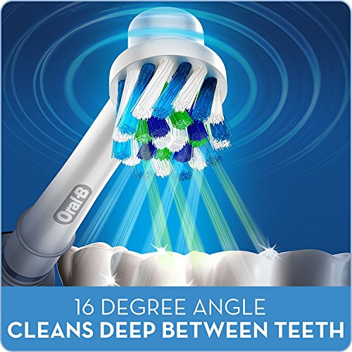 41ETUVQuGmL Oral-B Cross Action Electric Toothbrush Replacement Brush Heads Refill, 4 Count