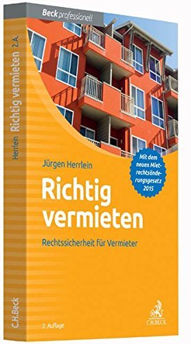 richtig vermieten rechtssicherheit f r den vermieter download pdf j rgen herrlein settkovsbooksza. Black Bedroom Furniture Sets. Home Design Ideas