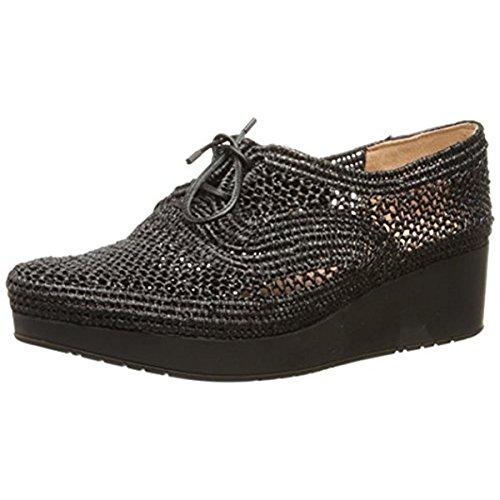 Robert Clergerie Women's Vicolei Fashion Sneaker, Black Raffia/Black/Black, 36.5 EU/6 B US