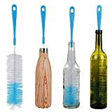 "ALINK 17"" Extra Long Bottle Cleaning Brush Cleaner for Washing Narrow Neck Beer, Wine, Kombucha, Thermos, Nalgene, Carafe, Yeti, S'Well, Brewing Bottles, Hummingbird Feeder"
