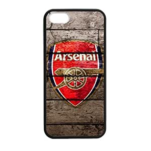 iPhone 5,5S Retro Football Team Club Arsenal England Design Case Cover for iPhone 5,5S TPU (Laser Technology)