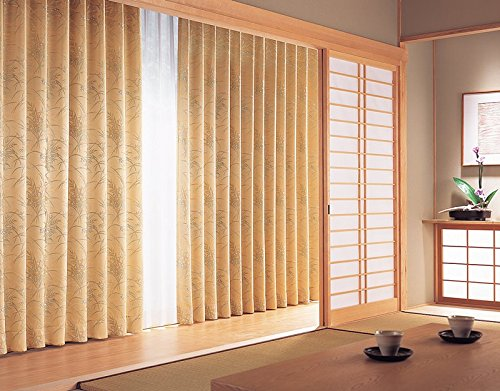 東リ サテンのしなやかさと光沢感が魅力の和風柄 カーテン1.5倍ヒダ KSA60168 幅:200cm ×丈:270cm (2枚組)オーダーカーテン   B077TBTTPW