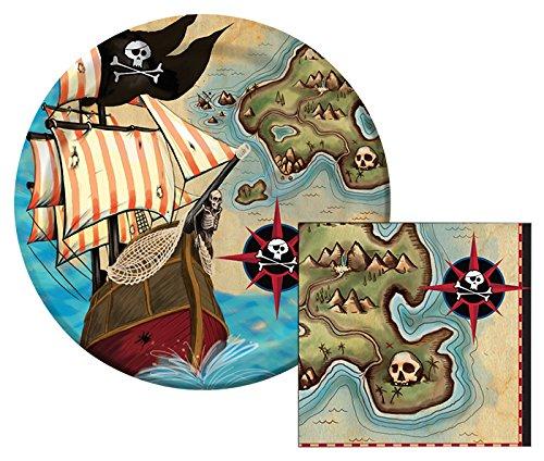 Pirates Themed Dessert Napkins Plates