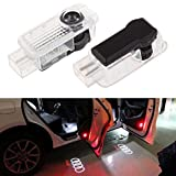 Jennyshop Audi Welcome Light Car Door LED Projector Light, Bright Illumination, Low Consumption, Laser Projection, 2 Pcs Set