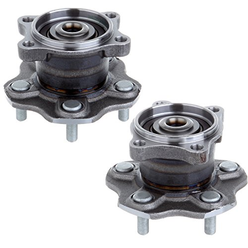(ECCPP Pair of 2 Rear Left and Right Wheel Hub Bearing Assembly Units for a 02-06 Nissan Altima 5 Lug)