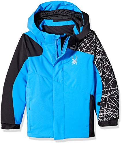 Spyder Boys' Mini Guard Ski Jacket, French Blue/Black/Black, Size 3 ()