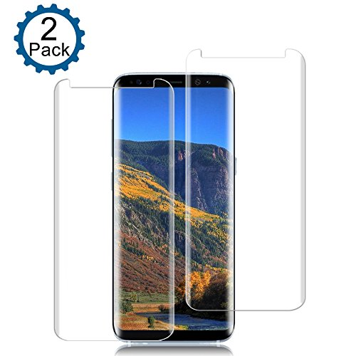 Price comparison product image [2 Pack]Galaxy S8 Screen Protector [9H Hardness][Anti-Scratch][Anti-Bubble][3D Curved] [High Definition] [Ultra Clear] Tempered SandFox Glass Screen Protector for Samsung Galaxy S8