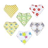Baby : Baby Bandana Drool Bibs Unisex | 6 Pack Gift Set for Newborns to Toddlers | Soft Cotton and Absorbent Polyester | Adjustable Nickel Free Snaps | Nice Shower Gift