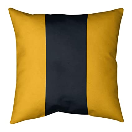 Buy Artverse Nfs Pittsburgh Football Stripes Pillow Indoor Outdoor Uv Protected 20 X 20 Gold And Black Online At Low Prices In India Amazon In