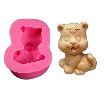 Home, Furniture & DIY 3D Silicone Bear Mould for Fondant Soap Making Mold Cake Decorating Mould