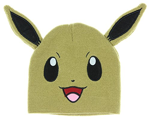bioWorld Pokemon Eevee Big Face Fleece Cap Beanie with Ears -