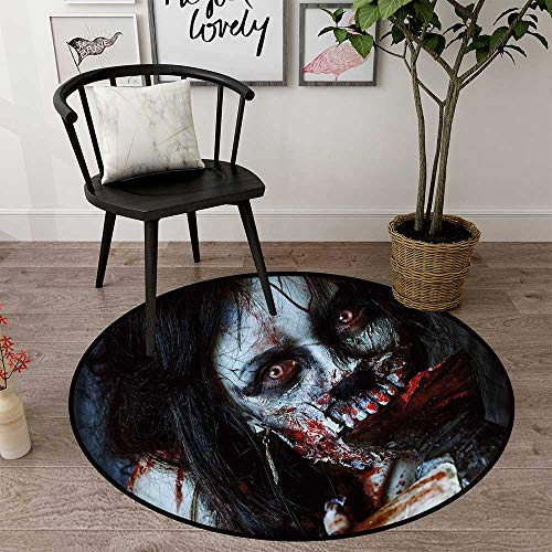 Circle mat for Crawling Babies Round Indoor Floor mat Entrance Circle Floor mat for Office Chair Wood Floor Circle Floor mat Office Round mat for Living Room Pattern 1'8