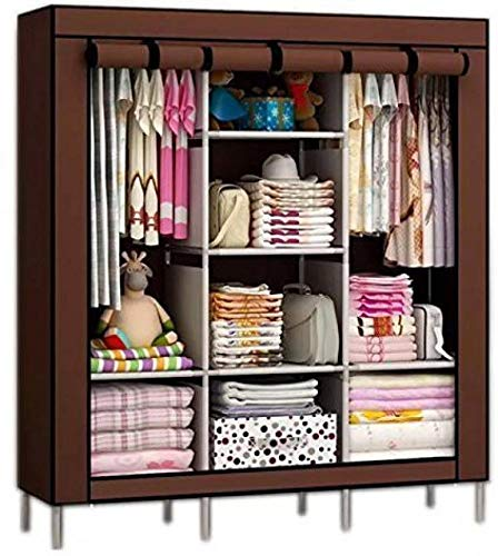 Anva Multipurpose Portable and Foldable Wardrobe Cabinet with Shelves (3.5ft)