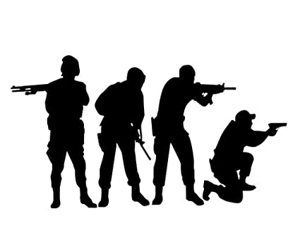 amazon com military swat team army men soldier silhouette wall