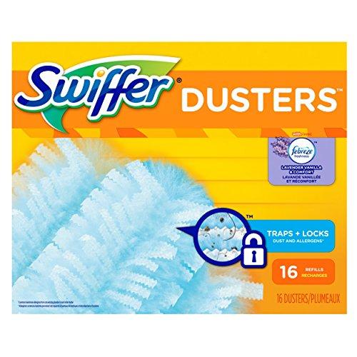 Swiffer 180 Dusters Refills with Febreze Lavender Vanilla & Comfort Scent 16 Count