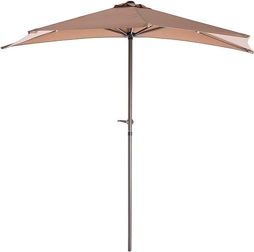 Parasol de jardín Plegable de Aluminio marrón de 270 cm Garden - LOLAhome: Amazon.es: Jardín